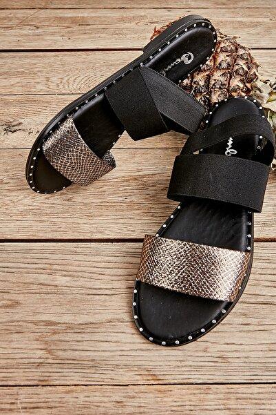 Bambi Gold Kadın Sandalet L0647160432
