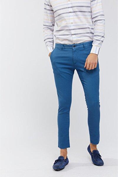 Avva Erkek Indigo Yandan Cepli Armürlü Slim Fit Pantolon A91y3028