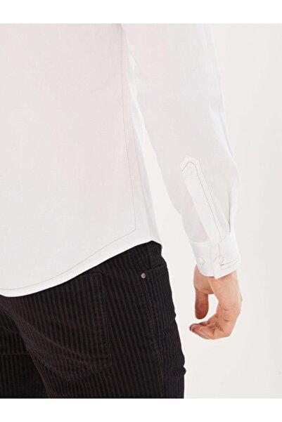Xint Xınt Slim Fit Pamuklu Dikiş Detaylı Gömlek