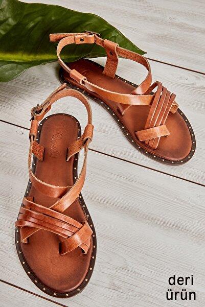 Bambi Taba Kadın Sandalet L0685262303