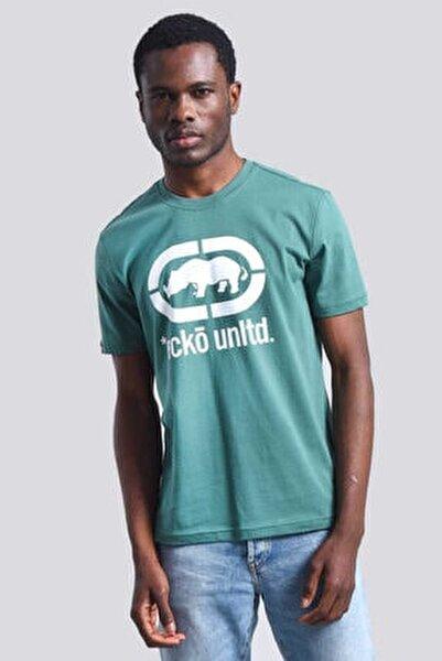Logo Tee Yeşil Erkek Baskılı Bisiklet Yaka T-shirt