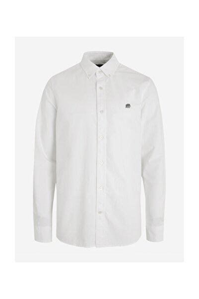 Banana Republic Erkek Beyaz Untucked Slim Oxford Gömlek
