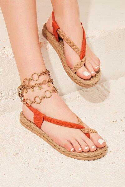 Bambi Turuncu Kadın Sandalet L0823130016