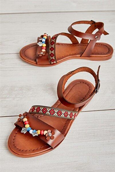 Bambi Kahve Kadın Sandalet L0776010109