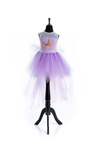 Tameris Kostüm Lila Unicorn Elbise Kısa Lady