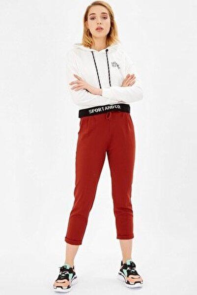 Beli Bağlıklı Scuba Pantolon - Kiremit