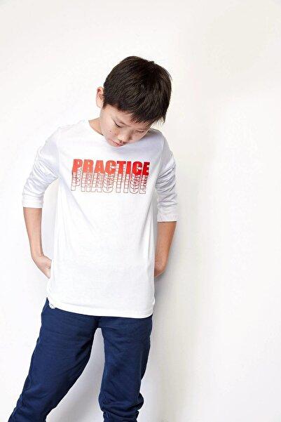Riccione Erkek Çocuk Beyaz T-shirt