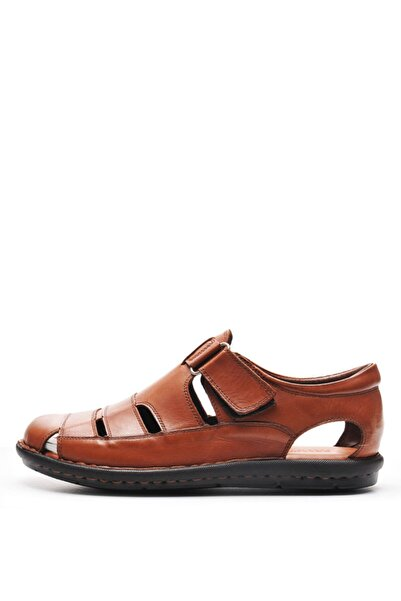 Bulldozer 201843 Taba Erkek Deri Sandalet