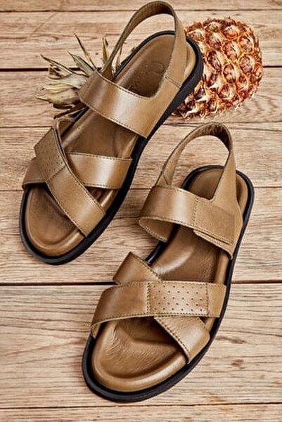 Hakiki Deri Haki Erkek Sandalet L1801043403