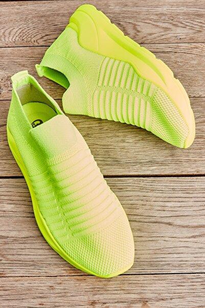 Bambi Sarı Neon Kadın Sneaker L0673450582