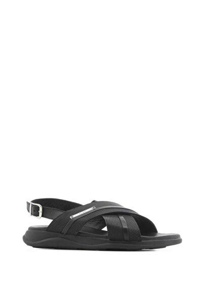 İLVİ Morton Erkek Sandalet Siyah Mat