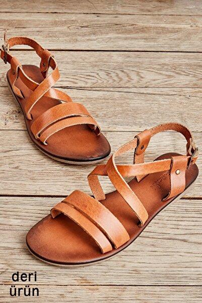 Bambi Taba Kadın Sandalet L0685162403