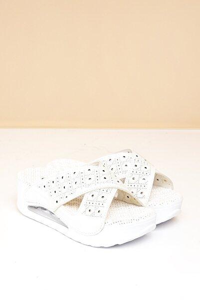 Pierre Cardin Pc-1409 Beyaz Kadın Terlik