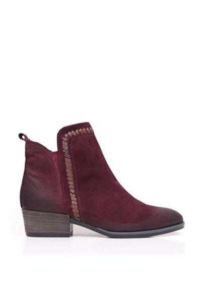 BUENO Shoes Fermuar Ve Lastikli Hakiki Deri Kadın Düz Bot 9p1301