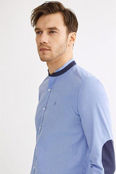 Avva Erkek Mavi Hakim Yaka Slim Fit Gömlek A01s2277