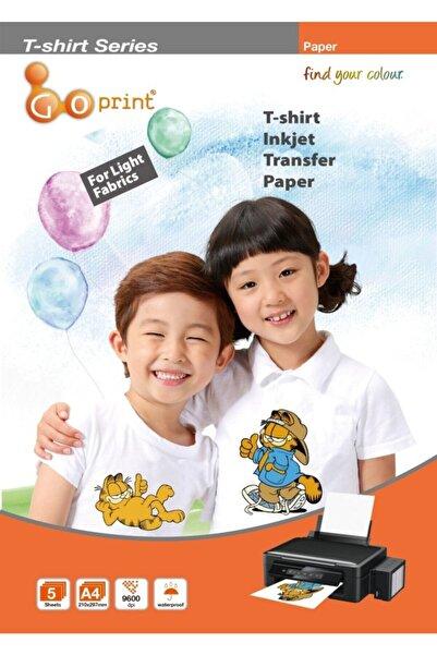 Goprint Goprınt Açık Zemin Pamuklu Tshirt Transfer Baskı Kağıdı - A4 (5 Adet)