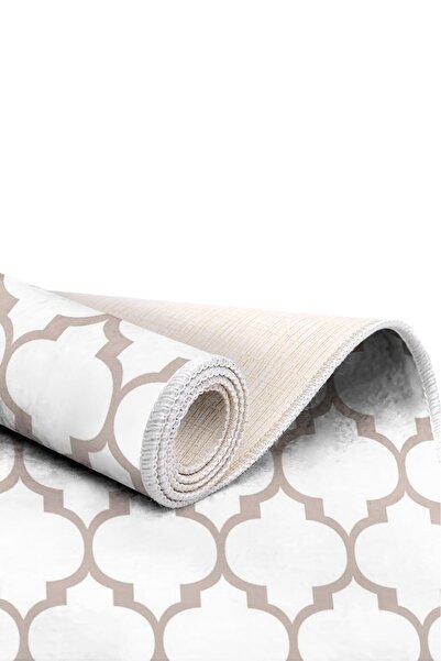 EXCLUSIVE Saray Dijital Halı Penny Geometrik Beyaz Gri