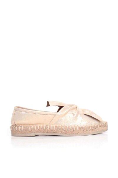 BUENO Shoes Hasır Detaylı Ve Önden Fiyonklu Kadın Babet 9n3100