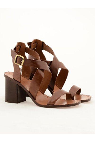 Nursace Hakiki Deri Klasik Topuklu Ayakkabı Nsc19y-a57615