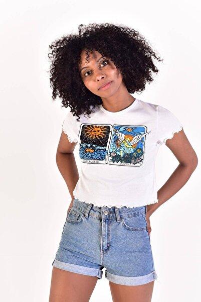 Addax Baskılı T-shirt P0831 - L6