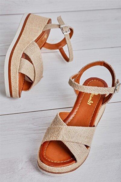Bambi Natural Kadın Sandalet L0578460028