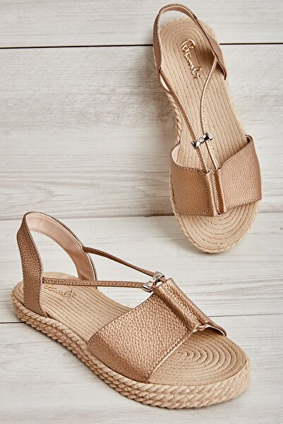 Bambi Altın Kadın Sandalet L0512710109