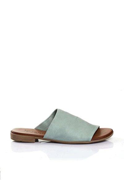 BUENO Shoes Önden Açık Hakiki Deri Kadın Düz Terlik 9l2701