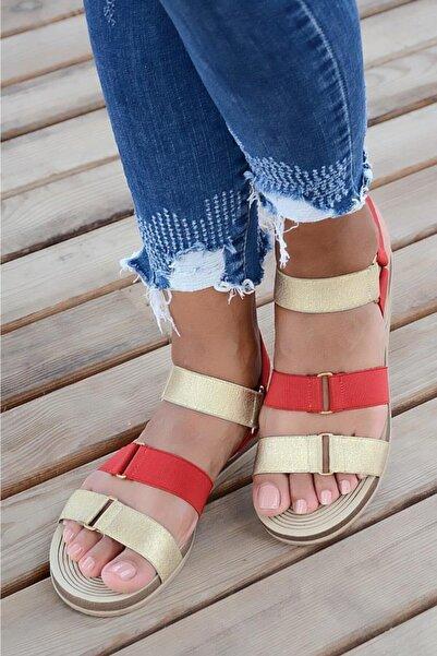 Pembe Potin Kadın Sandalet