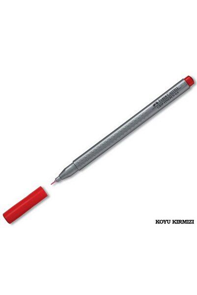 Faber Castell Faber-castell Grip Finepen 0,4 Mm Lal Kırmızı Tekli /