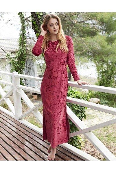 Penyemood Penye Mood 8411 Uzun Elbise - Penye Mood - Görsel Rengi - S