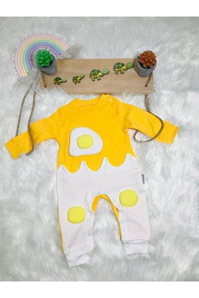 Baby&Kids Bebek Tulum 3 Boyutlu Pişmiş Yumurta Desenli Tulum
