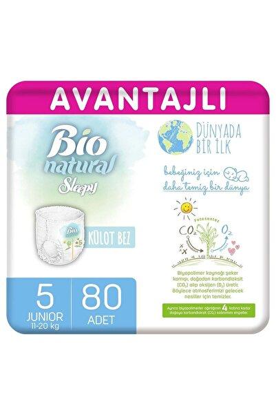 Sleepy Bio Natural Avantajlı Külot Bez 5 Numara Junior 80 Adet