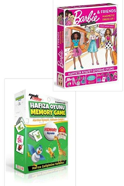 DIYTOY Dıy Toy Barbie Dress Up Fashionistas Manyetik Kıyafet Giydirme + Moli Toys Hafıza Oyunu Hayvanlar
