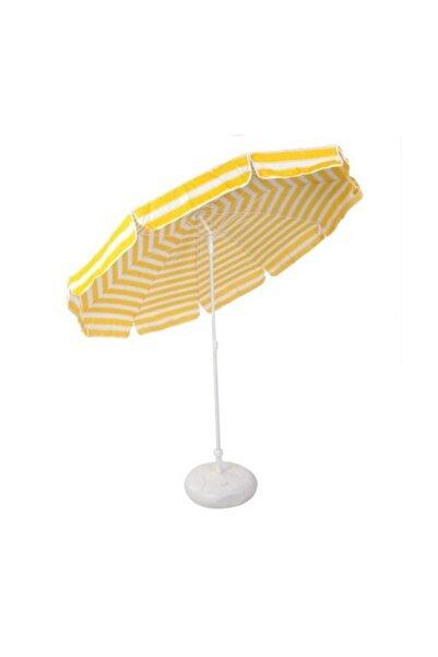 neone Katlanır Plaj Şemsiye Bahçe Şemsiyesi Gölgelik Bidon Dahil Sarı