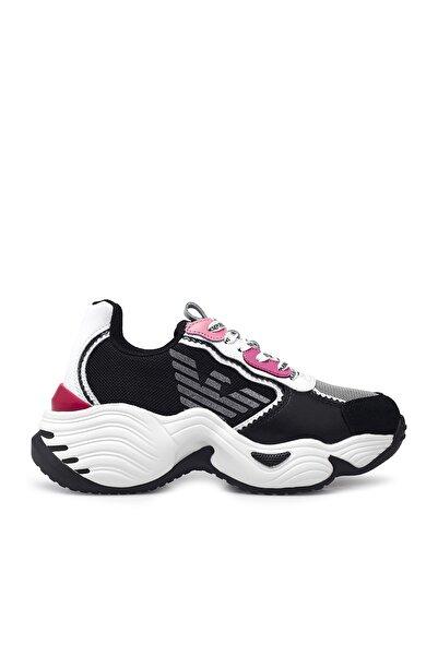 Emporio Armani Kadın Siyah  Sneaker Ayakkabı Ayakkabı S X3x115 Xm509 N107