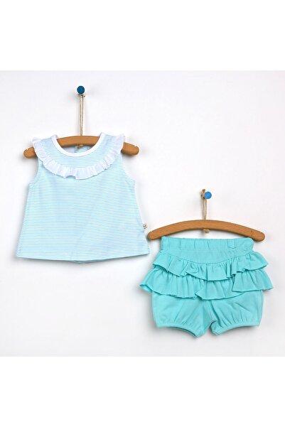 For My Baby Fırfır - Fiyonk Detaylı Bluz-Şort