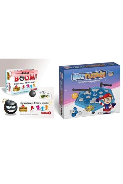 Bundera Buz Tuzağı Buz Kalesi Buz Kırma & Tik Tak Boom Dikkat Boom Extra Zeka Oyunu Eğlenceli Aile Oyunu