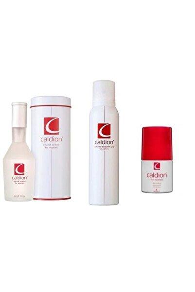 Caldion Orıjınal For Women Üçlü Set Edt 100 Ml Kadın Parfüm ve 150 Ml Deodorant 50 Ml Rollon