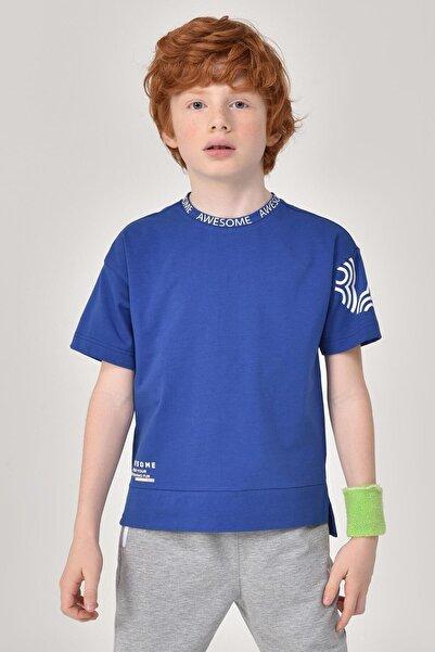 bilcee Erkek  Çocuk Mavi T-Shirt GS-8179