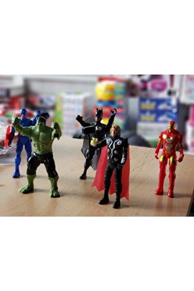 MARVEL Avangers Thor Hulk Thor Kaptan Amerika Batman Demir Adam Işıklı Figür Set