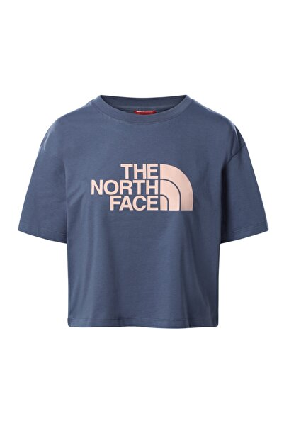THE NORTH FACE W Cropped Easy Tee Kadın Lacivert Tshirt Nf0a4t1r0gu1