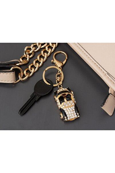 Madame Coco Siyah Beyaz Araba Figürlü Anahtarlık - Gold