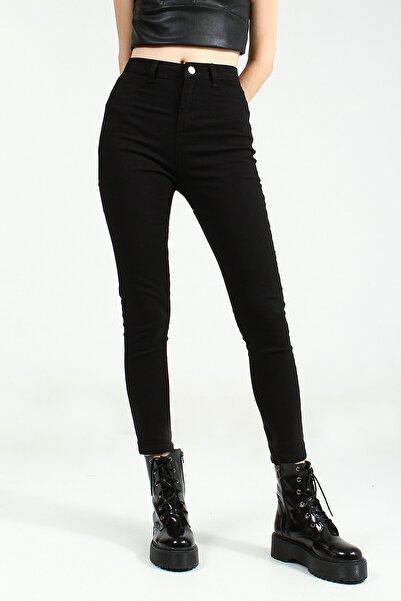 Collezione Siyah Yüksek Bel Skinny Kadın Pantolon