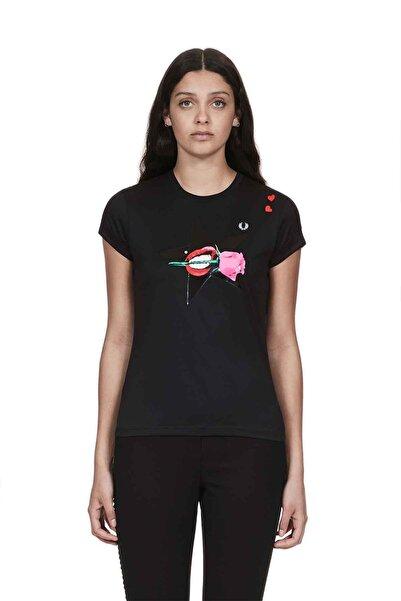 Fred Perry Kadın T-shirt Siyah