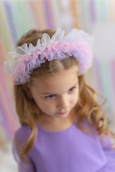 PixyLove Renkli Kız Çocuk Taç Pony