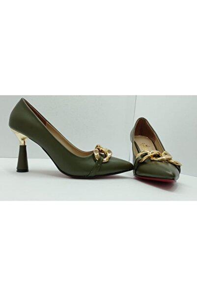 Trendy ayakkabı Trendy Gold Detaylı Stiletto