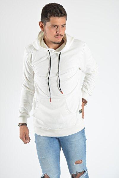 Terapi Men Erkek Kapşonlu Uzun Kollu Sweatshirt 20y-5200381 Beyaz