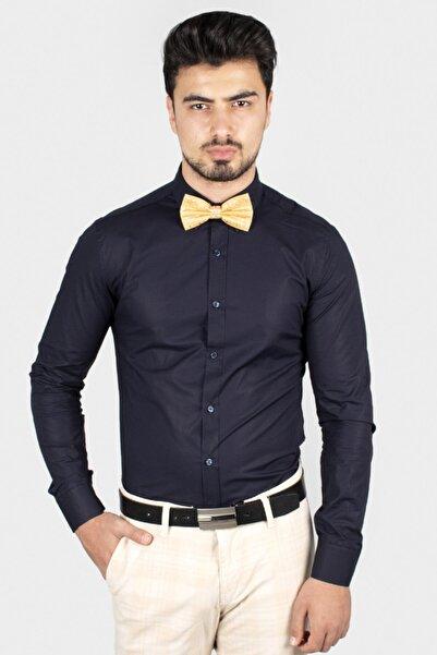 DeepSEA Erkek Lacivert Yeni Sezon Slimfit Gömlek