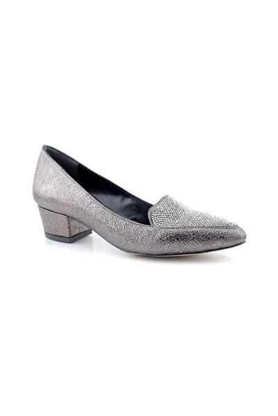 PUNTO 446009 Kadın Topuklu Ayakkabı-platin