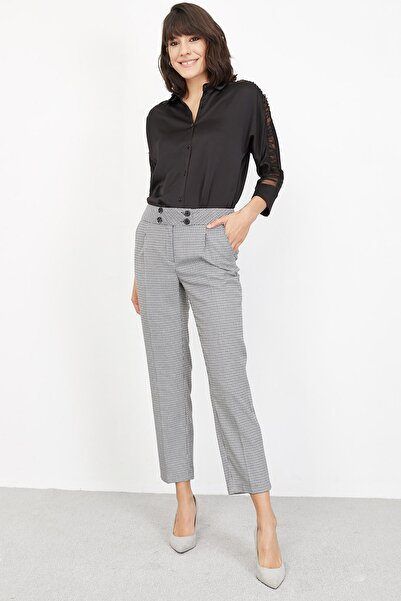 Lafaba Kadın Gri Pantolon